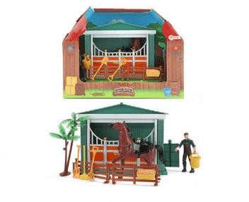 Toi Toys paardenstal met verzorger