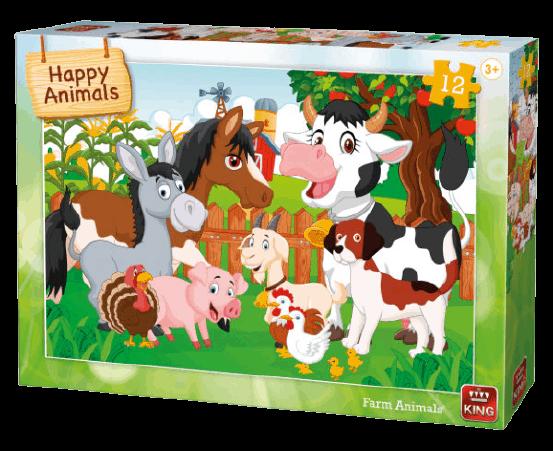 kinderpuzzel happy animals